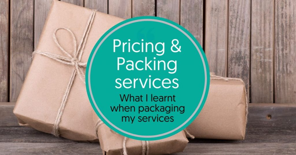 Pricing and packages - what I learnt