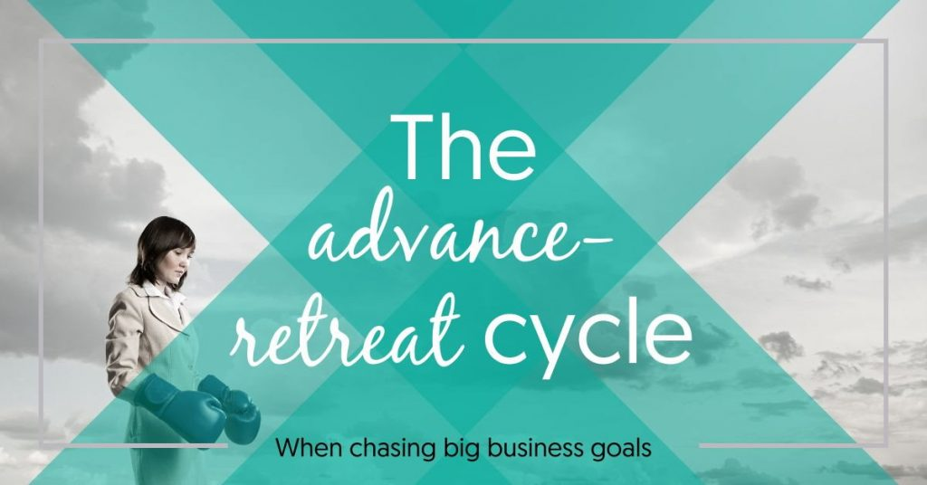 The advance retreat cycle when chasing big hairy audacious business goals